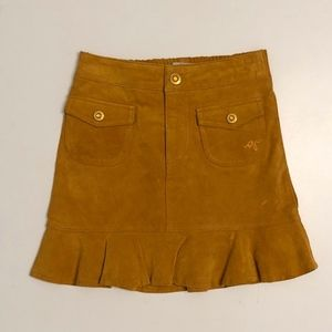EUC GUESS 100% PIG SUEDE GIRL SKIRT SIZE 6T